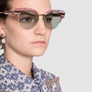 Gucci Cat Eye Pink Glitter Acetate Sunglasses 😳🔥